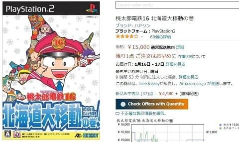 桃鉄PS2amazonの販売画面